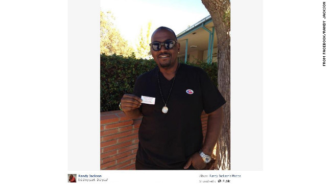 &quot;American Idol&quot; judge Randy Jackson is quite familiar with the process of voting, and made sure to cast his on November 6. 