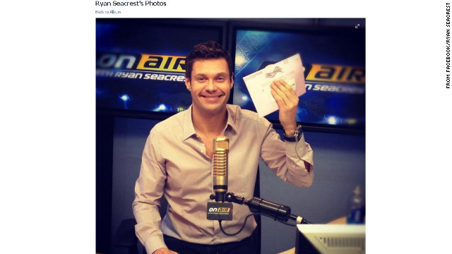 The ever-working Ryan Seacrest still squeezed in time to vote in the 2012 election.
