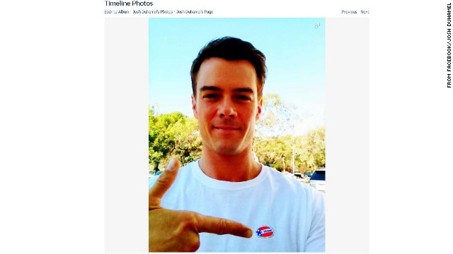 Josh Duhamel opted to keep quiet on Twitter about who he was voting for the night before the election, but he did proudly show off proof that he voted on November 6. 