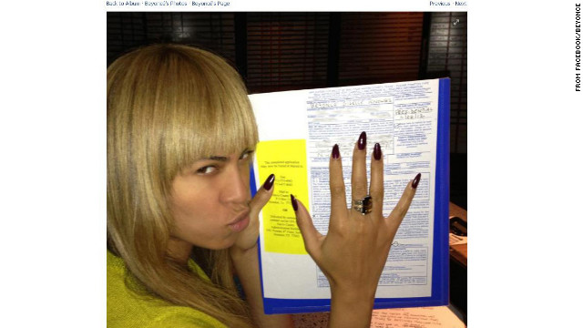 Beyonce had her game face on as she went to cast her vote on November 6.