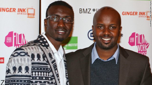 Left to right : Olwenya Maina, who plays Oti in Nairobi Half Life, and director Tosh Gitonga, at the film's German premiere in Berlin on October 10&lt;!-- --&gt;.&lt;/br&gt;&lt;!-- --&gt;