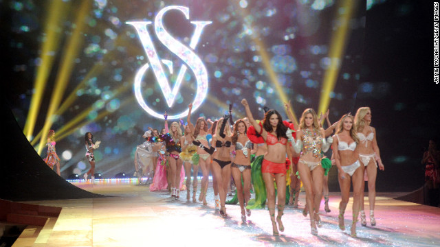 Models walk the runway during the 2012 Victoria's Secret fashion show in New York City on Wednesday. CBS will air the fashion show, with performances by Rihanna, Bruno Mars and Justin Bieber, on December 4.