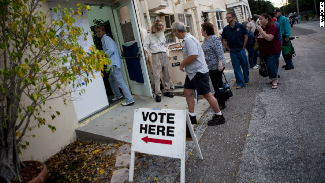 Some voters in Florida waited four hours or longer to cast their ballots on Election Day.