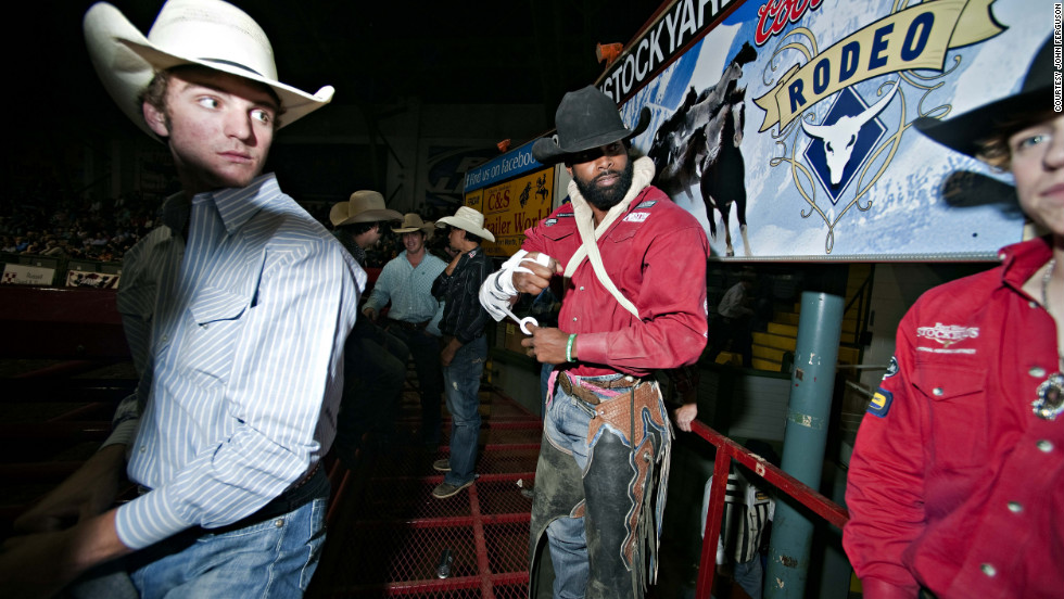"Jason Griffin (center) is one of the stars of ""The Forgotten Cowboys,"" a documentary film by John Ferguson and Gregg MacDonald which follows the lives of black cowboys in the U.S."