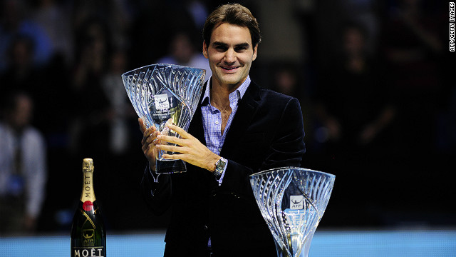 The previous day, Federer was presented with the Stefan Edberg Sportsmanship Award, voted for by his peers, and the ATP World Tour Fans' Favorite Award at London's O2 Arena, which will host the tournament until 2015.