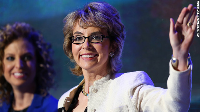 Gabrielle Giffords visits Newtown