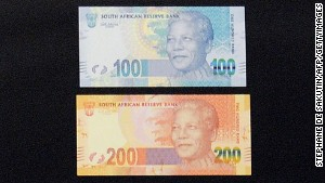 The banknotes feature a picture of the former president.