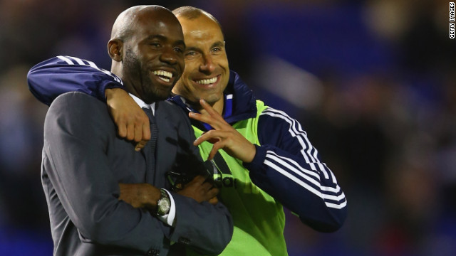 Muamba announced his retirement from football in August 2012, but the following month he attended a match played by his former club Bolton, which has dropped into the second division.