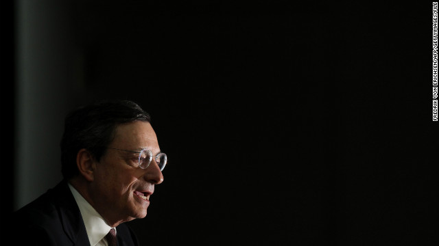 Speaking in Bratislava, Slovakia, ECB President Mario Draghi said the central bank is
