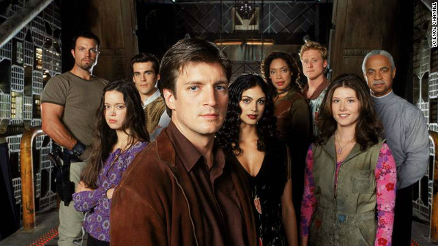 "Fans of Joss Whedon's ""Firefly"" have been begging for a reboot of some sort since the drama went off the air in 2003. Nathan Fillion, center, now stars on ""Castle,"" which is in its fifth season on ABC."
