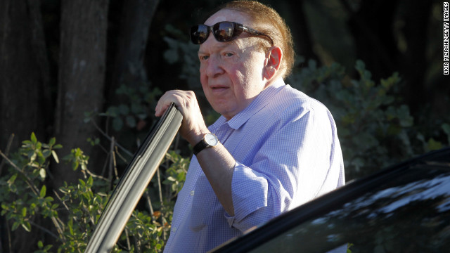 U.S. gaming tycoon Sheldon Adelson, the biggest single donor in political history, poured tens of millions of dollars into campaigns in this election.