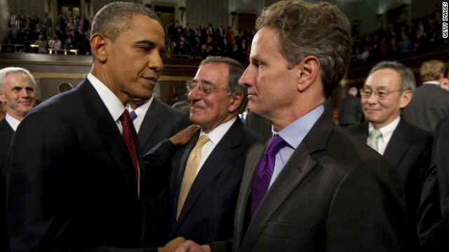 Geithner staying in job through inauguration
