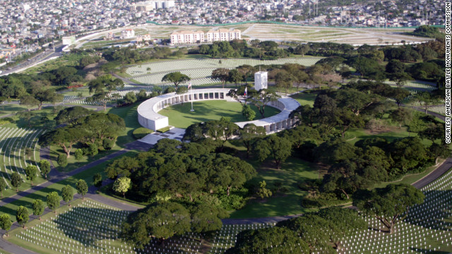 Manila American Cemetery in the Philippines is the largest overseas American cemetery, honoring more than 53,000.