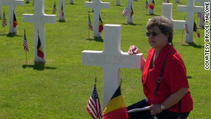 Carol Malone never met her father, but she visited his grave in Belgium\'s Henri-Chapelle American Cemetery in 2004.