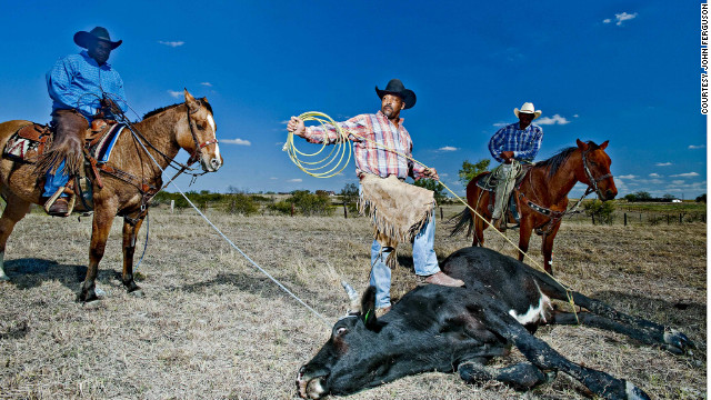 """This is Texas, so most of these people have grown up working with horses. Most of their fathers and grandfathers were cowboys. It goes back centuries, so it's not hobby for them, it's their life,"" says Ferguson."