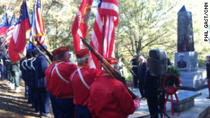 The monument was dedicated on Saturday, November 10.