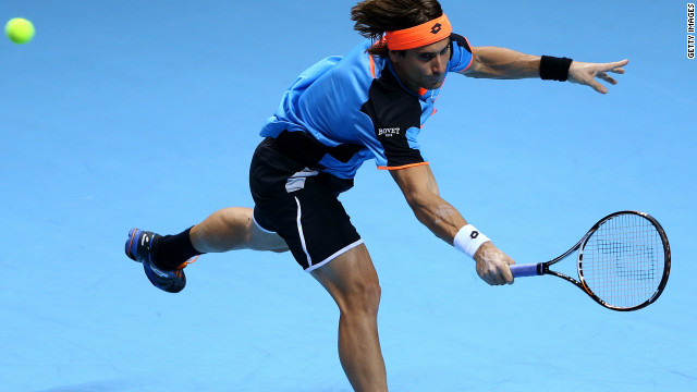Del Potro's win ended the hopes of Spain's world No. 5 David Ferrer, who reached the semifinals last year and was runner-up in 2007 when the elite eight-man event was held in Shanghai.