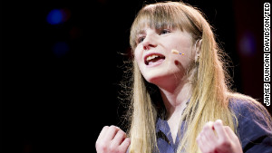 Amy O\'Toole, a student who took part in the Blackawton Bees science project, speaks at TED Global 2012.