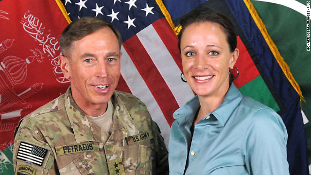 "Paula Broadwell, 40, is a West Point graduate raising two children with her husband Scott in Charlotte, North Carolina. Her affair with CIA Director David Petraeus led to his resignation. She got to know him while working on a Ph.D. dissertation about him. Alleged ""jealous"" e-mails she wrote anonymously to another woman, Jill Kelley, brought the affair to light, a government source told CNN."