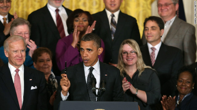 President Barack Obama speaks to the media about the 