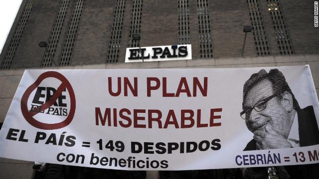 El diario El País despide a 129 empleados