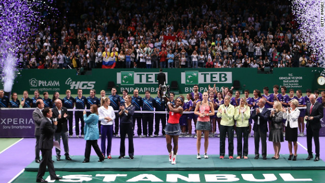 Tennis royalty contested the final of the WTA Championships in Istanbul with Serena Williams beating Maria Sharapova in the final.