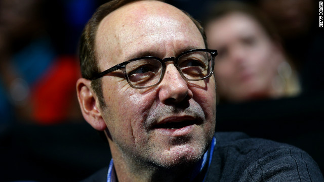 A face in the crowd: Hollywood actor Kevin Spacey joined the capacity audiences in London.