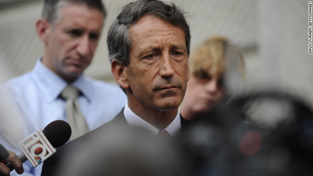 When then-South Carolina Gov. Mark Sanford went MIA for nearly a week in June of 2009, his staff told the public he was out hiking the Appalachian Trail. But when the Republican was spotted at Atlanta's Hartsfield-Jackson Airport, he decided to come clean about the mysterious hiking trip and quite a bit more. Sanford admitted he was not hiking, but visiting his Argentinian mistress in Buenos Aires. Though his wife, Jenny, said she was open to reconciliation, Sanford was head-over-heels for paramour Maria Belen Chapur. The Sanfords divorced. He became engaged to Belen Chapur in August. 