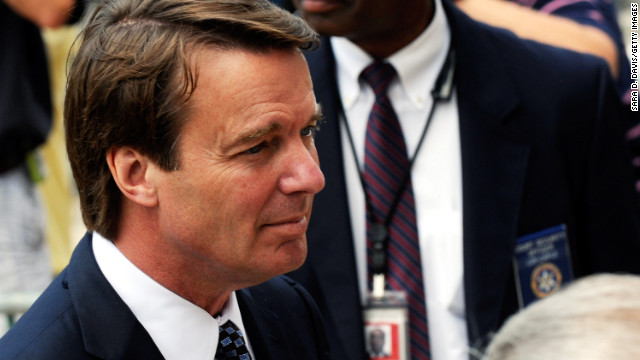 John Edwards, the former North Carolina senator and Democratic presidential hopeful, saw his political career spin off track when he finally admitted in 2008 that he was unfaithful to his cancer-stricken wife, Elizabeth Edwards. Edwards at first denied the affair but ultimately came clean about fathering a child with his campaign videographer, Rielle Hunter. Prosecutors accused Edwards of illegally using hundreds of thousands of dollars in campaign contributions to keep his pregnant mistress under wraps, but he was granted a mistrial on May 31, 2012. Elizabeth Edwards died in 2010.