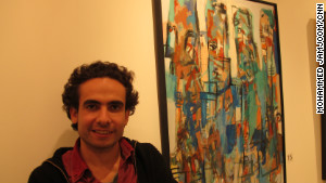 Wissam Shaabi uses bright colors to both inspire hope and to offset an advancing darkness in his works.