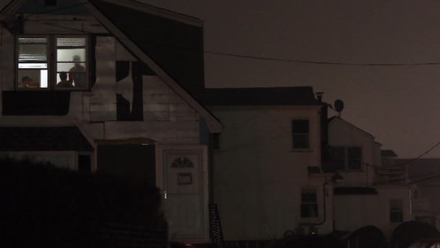 One room has power Monday in Rockaway, where many areas are still without electricity. &quot;If you don't have your power back, it probably means power can't be restored to your home at this time,&quot; New York Gov. Andrew Cuomo said Monday afternoon.