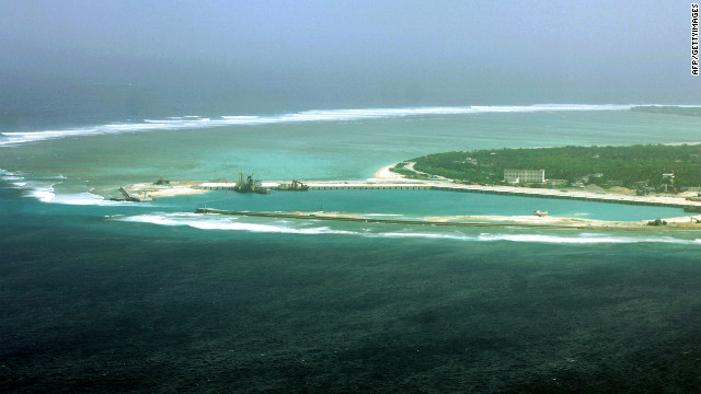 China claims the Paracel island group (pictured) in the South China Sea.