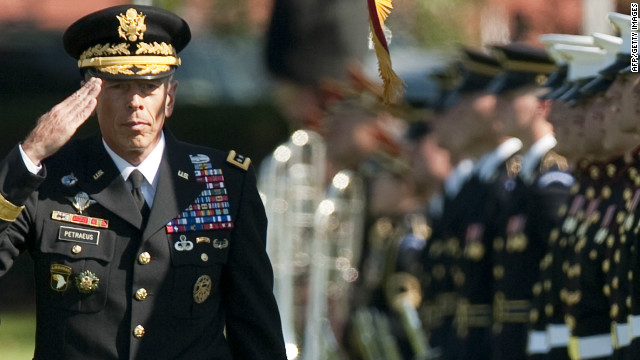 Gen. David Petraeus, 60, &lt;a href='http://www.cnn.com/2012/11/12/us/petraeus-cia-resignation/index.html' target='_blank'&gt;resigned Friday, November 9,&lt;/a&gt; as head of the CIA and admitted having an affair. His mistress was later identified as his biographer, &lt;a href='http://www.cnn.com/2012/11/10/politics/broadwell-profile/index.html' target='_blank'&gt;Paula Broadwell&lt;/a&gt;. The retired four-star general formerly oversaw coalition forces in Iraq as well as U.S. and NATO forces in Afghanistan. He and his wife, Holly, have been married 38 years and have two grown children.