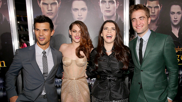 Taylor Lautner, Kristen Stewart, Stephenie Meyer and Robert Pattinson attend 