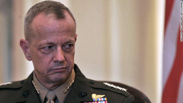 Gen. John Allen, 58, U.S. commander in Afghanistan, is under investigation for allegedly sending inappropriate messages to Jill Kelley. He denies wrongdoing, according to a senior defense official. Kelley had complained about anonymous e-mails she received, which were found to be from Paula Broadwell. The FBI probe of those e-mails led to the discovery of Broadwell's affair with CIA Director David Petraeus. 