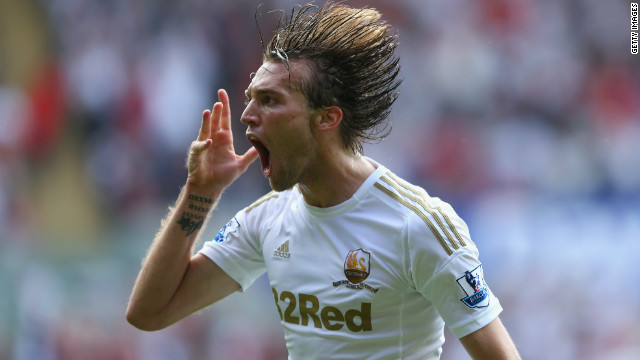 Michu was a Real Oviedo player for four years and has been campaigning on Twitter to save the club. He now plays in the English Premier League with Welsh club Swansea.