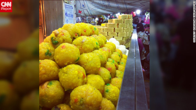 "This image captured by <a href='http://ireport.cnn.com/people/Hyacinth3'>Hyacinthe Kaur</a> shows a selection of Diwali sweets on display at a market in the city of Klang, Malaysia. ""The Festivals of Lights is a joyous occasion where people come together to dance, sing, eat delicious Indian food, embrace culture, share, worship, smile, shop and experience a burst of colors,"" she says."