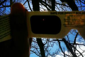solar eclipse ireport tiny eclipse