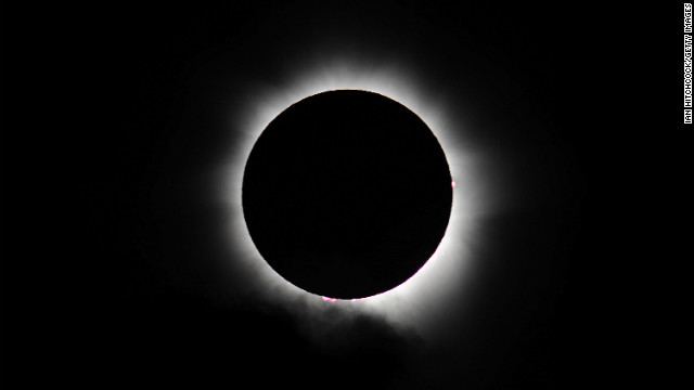Totality is seen during the solar eclipse at Palm Cove on Wednesday.