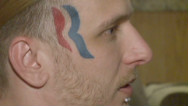 Man gets Romney logo face tattoo