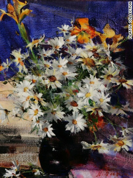 &quot;Daisies,&quot; by Nicolai Fechin, is one of the pieces Filatov has found for his art fund. 