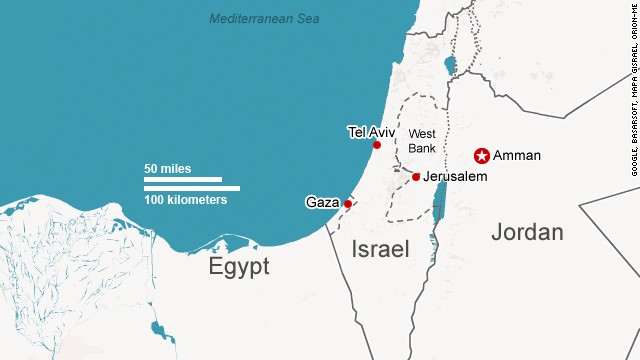 Map: Israel