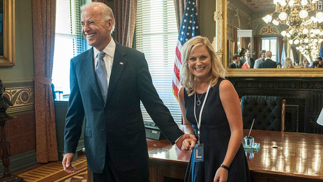 When Knope met Biden on 'Parks and Rec'