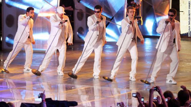 "Danny Wood, Donnie Wahlberg, Jordan Knight, Joey McIntyre and Jonathan Knight of New Kids on the Block performed live in 2008. The group, which rose to superstardom in the late '80s and early '90s reunited for 2008's ""The Block"" and 2011's ""NKOTBSB"" with the Backstreet Boys."