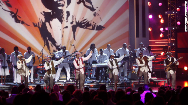"Ralph Tresvant, Michael Bivins, Ronnie DeVoe, Ricky Bell, Bobby Brown and Johnny Gil of New Edition perform an homage to Michael Jackson during the 2009 BET Awards. The R&B group's albums include 1983's ""Candy Girl"" and 1988's ""Heart Break,"" among others."