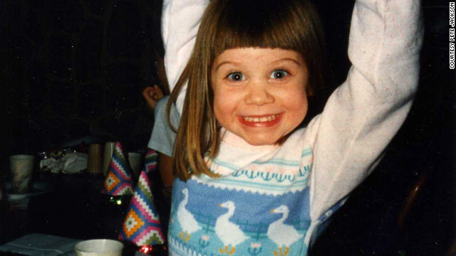 Emily Jackson in 1992 at age 4.