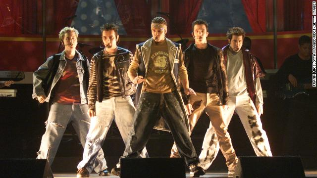 *NSYNC performed &quot;It's Gonna Be Me&quot; at the MTV Movie Awards in 2000. The boy band, consisting of Justin Timberlake, JC Chasez, Chris Kirkpatrick, Joey Fatone and Lance Bass, struck gold in the United States with &quot;I Want You Back&quot; in 1998. Their 2001 album, &quot;Celebrity,&quot; would be their last as a group.
