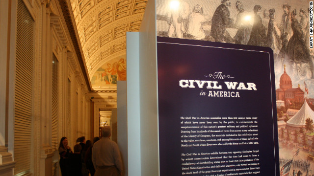 Civil War exhibit at Library of Congress