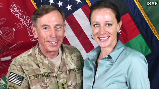 Gen. David Petraeus, now-former head of the CIA, poses with his biographer Paula Broadwell.