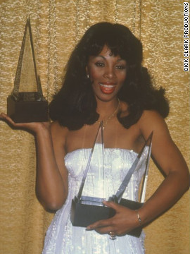 In 1979, Donna Summer won three awards: favorite disco album, favorite disco female and favorite disco single for &quot;Last Dance.&quot; This year's American Music Awards are Sunday.